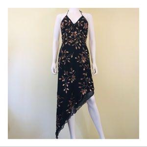 Cache Sequin Evening Silk Dress